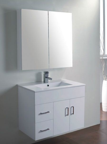China 750mm Wall Mounted Mdf Bathroom Vanity Cabinet Mw750 China Bathroom Vanity Bathroom