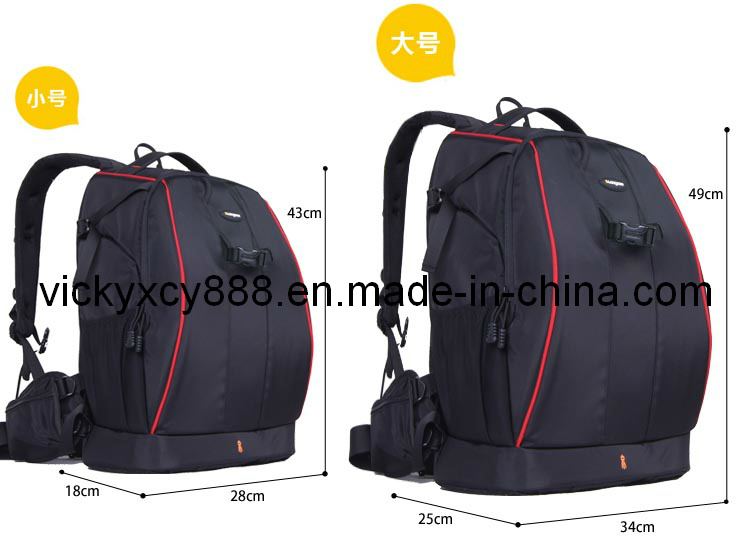 Top Quality Double Shoulder Professional Video Camera Backpack Bag (CY9907)