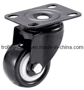 1.5-2.5 Inch Light Duty PVC Caster Wheel with E-Coating Bracket