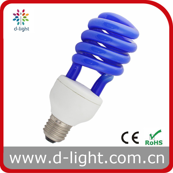 22W Half Spiral CFL/ESL (Blue Tube)