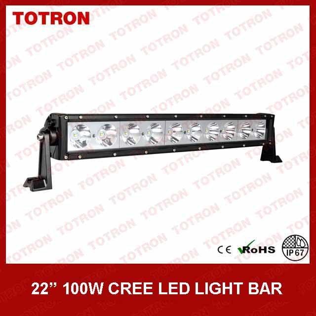 Good Quality! Totron 100W Single Row CREE LED Light Bar