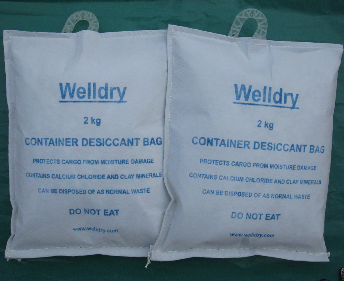 Container Desiccant Bag for The Shipping Container of Cocoa Beans or Coffee Beans, 2kg with Hook