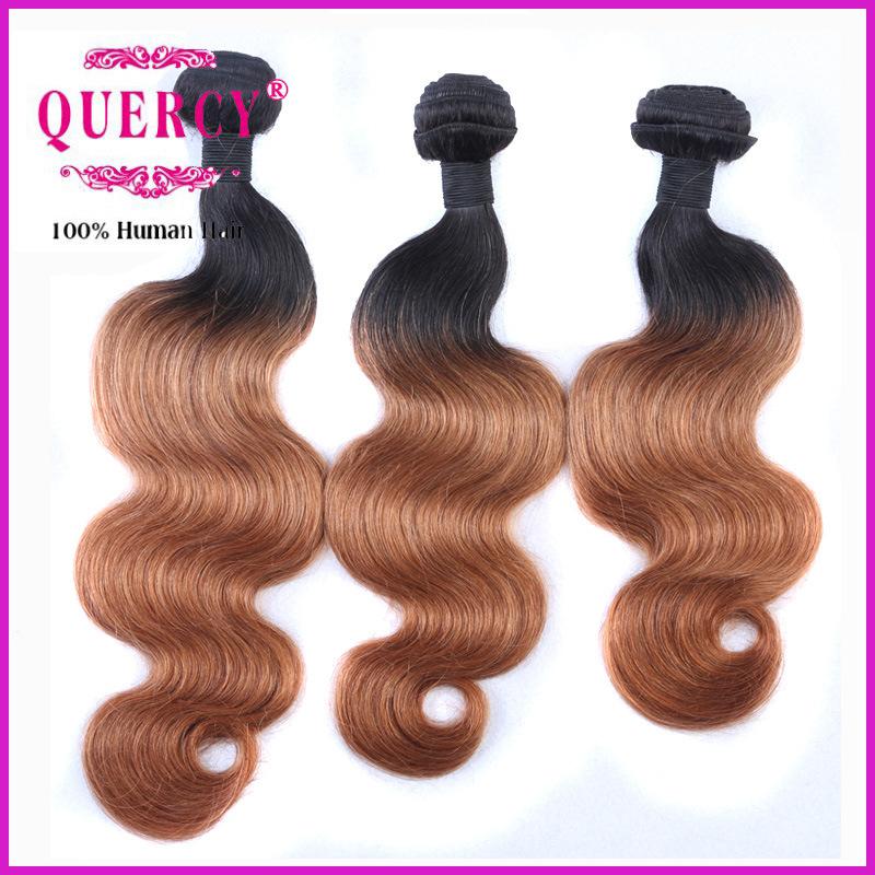 100 Natural Human Hair Weave 100% Brazilian 2 Tone Ombre Hair Weaving Body Wave Omber Hair Bundle
