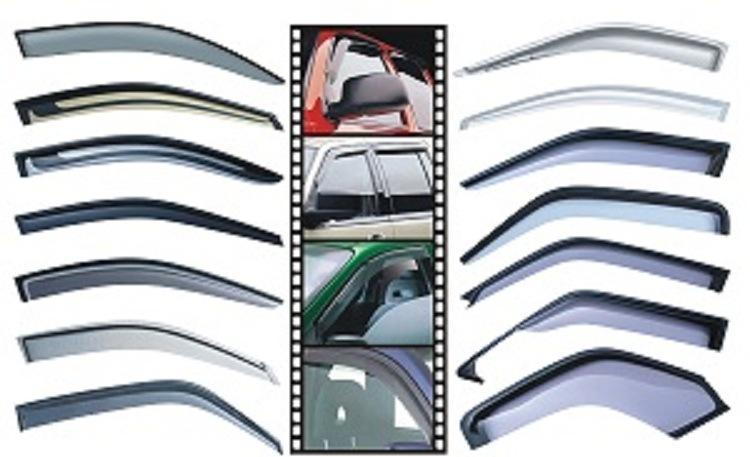 PC Injection Mould Car Rain Visor Window Visor for Chevrolet Aveo Hatchback2011