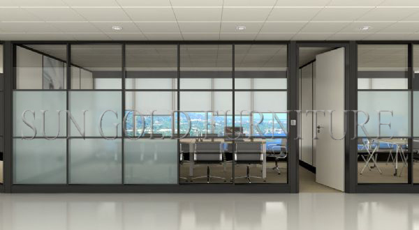 China Modular Customized Half Glass Used Office Wall Partitions
