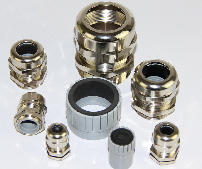 China pg npt waterproof type brass cable gland for