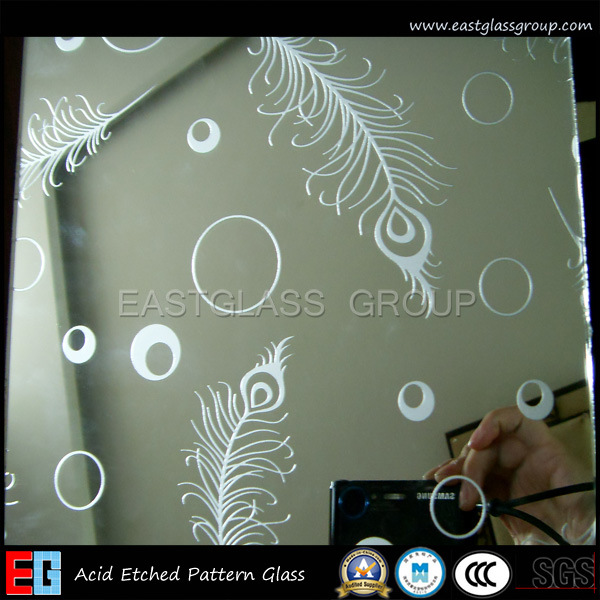 Clear Acid Etched Glass/Frosted Glass/Colored Frosted Glass/Tinted Acid Etched Glass/Frost Glass/Sandblasting Glass (AD42)