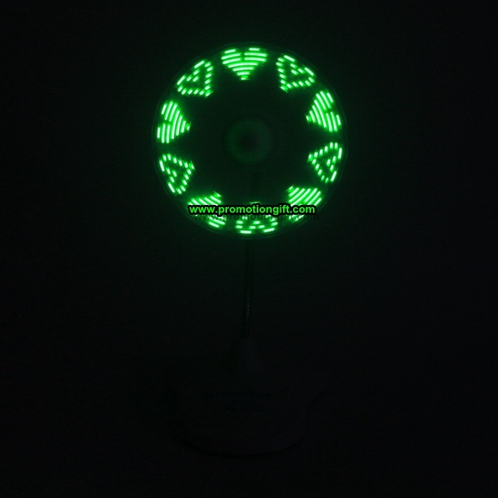 USB Flashing Message Fan