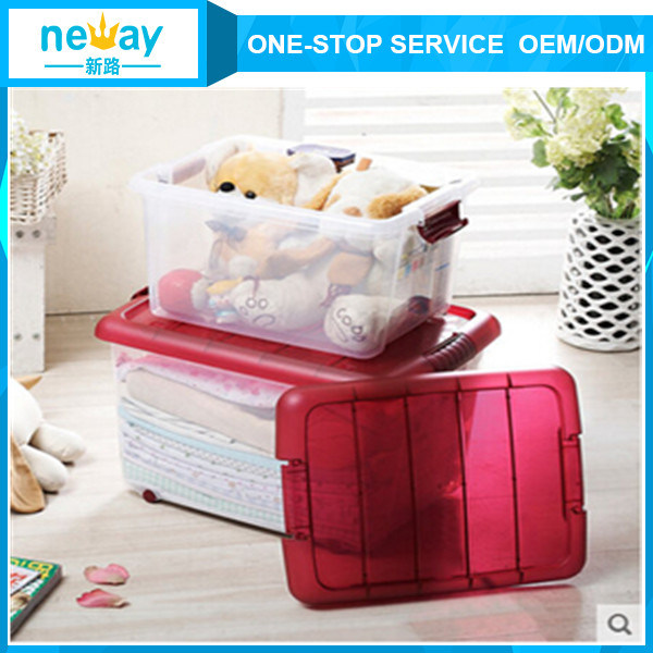 Big Size Living Room Use Transparent Plastic Storage Box