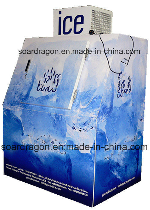 Bagged Ice Storage Freezer for Outdoor Ice Merchandising