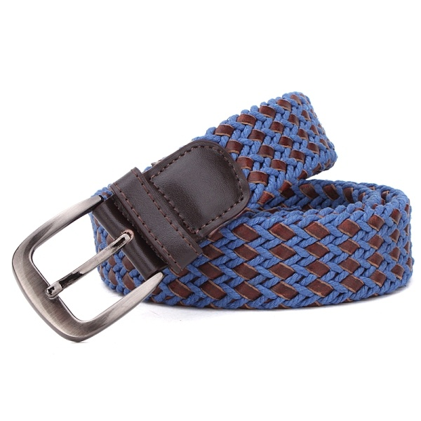 High Quality Leather and Cotton String Braided Man Belt (RS-131256B)