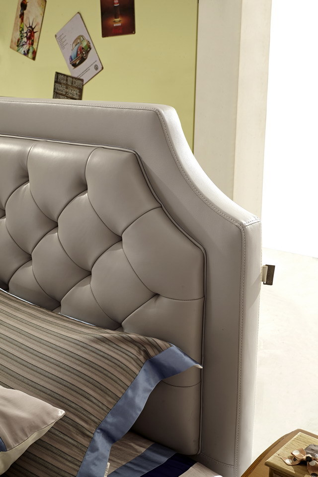 2016 Beautiful Leather Bed with New Style Design (Jbl2011)