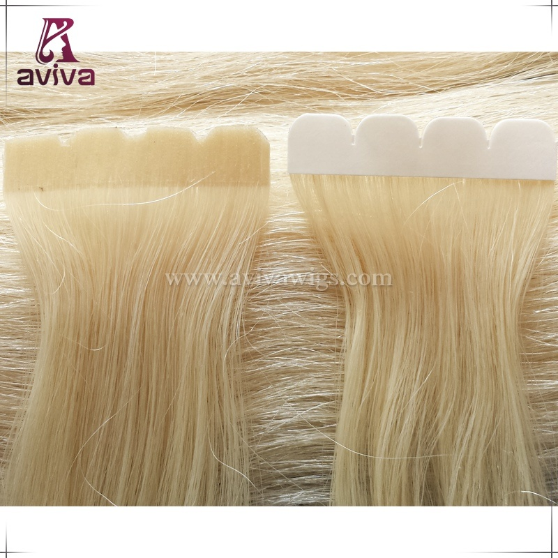 Full Cuticle Virgin Remy Seamless Skin Weft Tape in Human Hair Extension