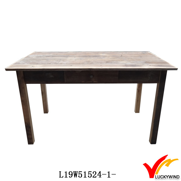 Farm Chic 4 Seaters Square Solid Wood Pedestal Dining Table