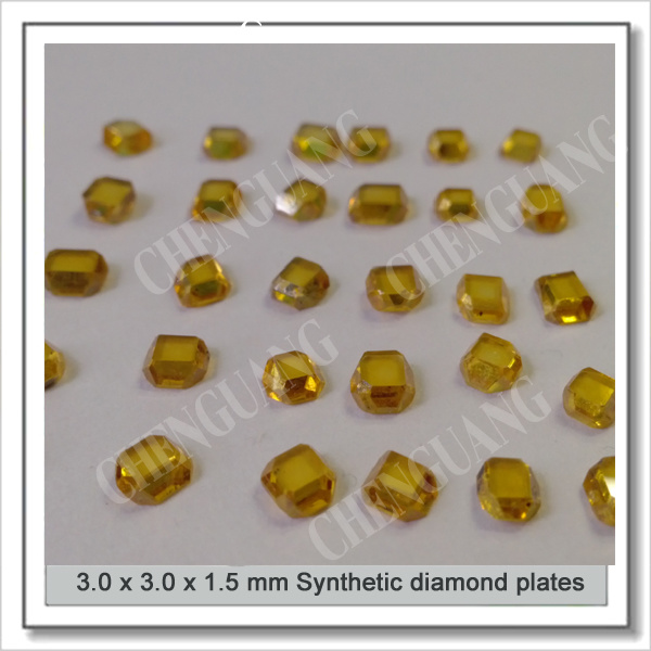 3*3*1.5mm High Quality Bright Yellow Synthetic Crystal Diamond