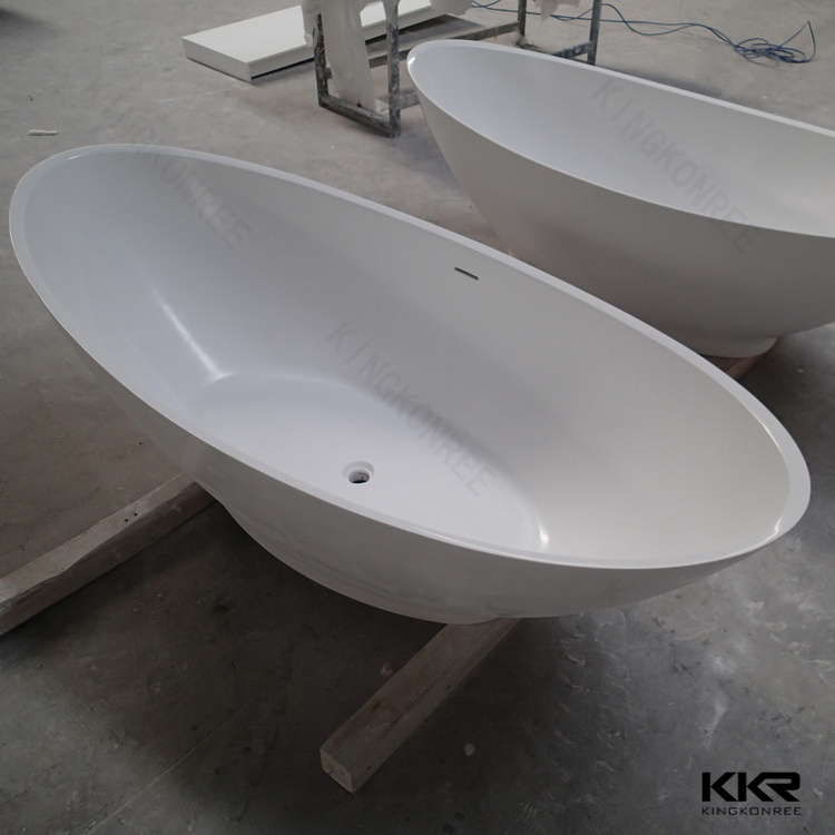 China kingkonree modern solid surface freestanding bathtub for Freestanding stone resin bathtubs