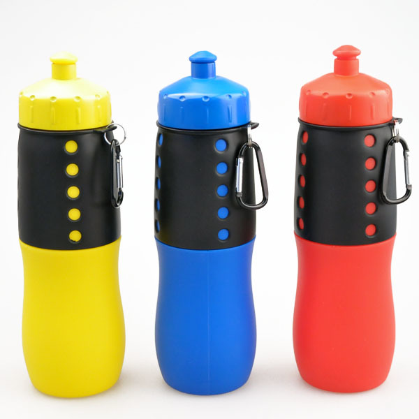 2016 New Foldable Silicone Water Bottle, Collapsible Sports Water Bottle