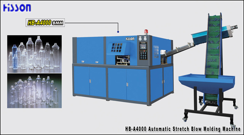 4 Cavity Automatic Pet Bottle Blow Molding Machine Hb-A4000
