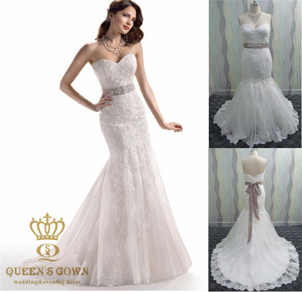 China Mermaid Wedding Dress Made to Measure Ball Gown - China ...