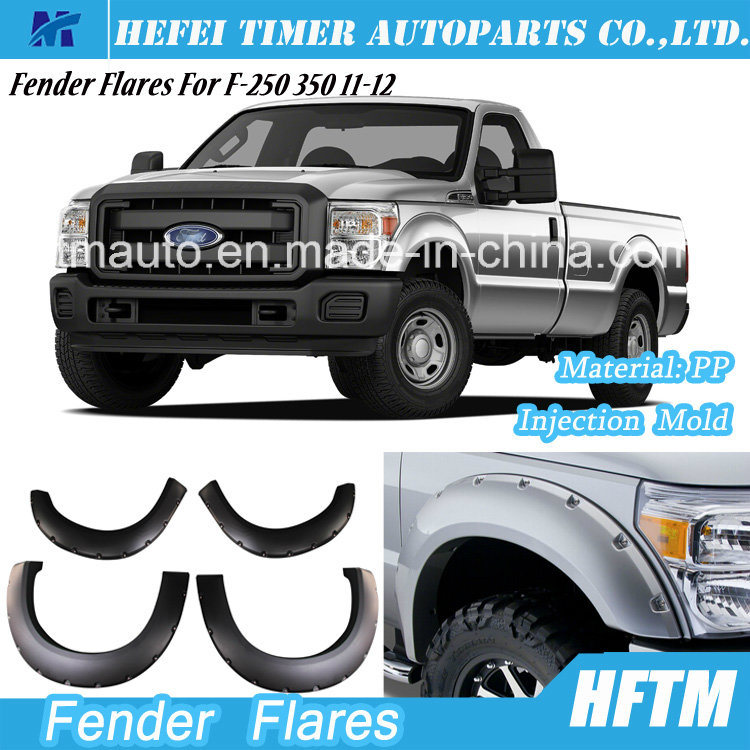 for Ford F-250 350 11-12 Injection Mold PP Material Fender Flares