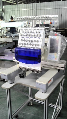 Single Head Cap Embroidery Machine with Wheel Can Movable Easy