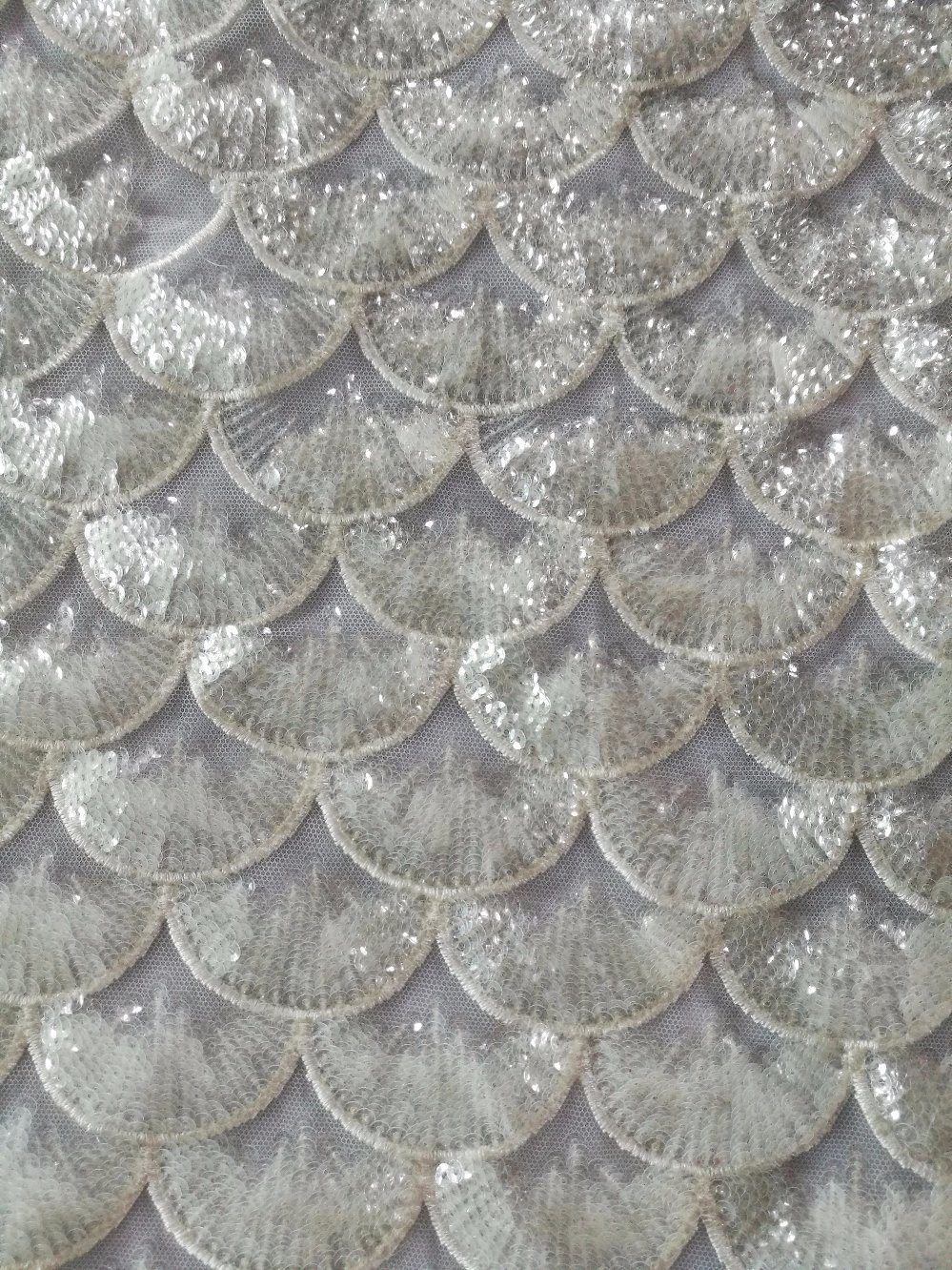 Sequins Voile for Wedding Bridal Evening Dress Hight Quality