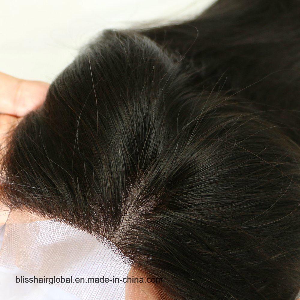 Bliss Hair 4X4 Lace Silk Base Closure Three/Free/Middle Part Top Swiss Silk Base Lace Closure Straight Peruvian Virgin Human Hair Closures Pieces