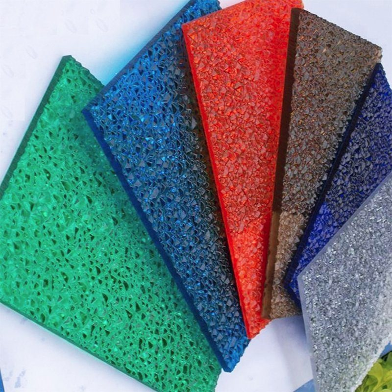 Polycarbonate Embossed Solid Frosted Diamand Color Sheet