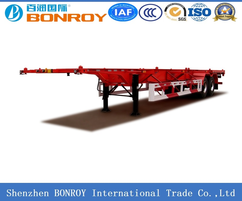 20FT 3 Axle Skeletal Container Semi-Trailer