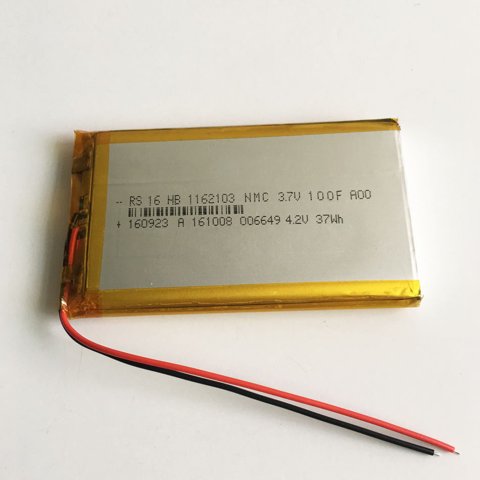 1162103pl 3.7V 10000mAh Lithium Polymer Rechargeable Battery for Power Bank Pad Tablet PC Laptop Nootbook