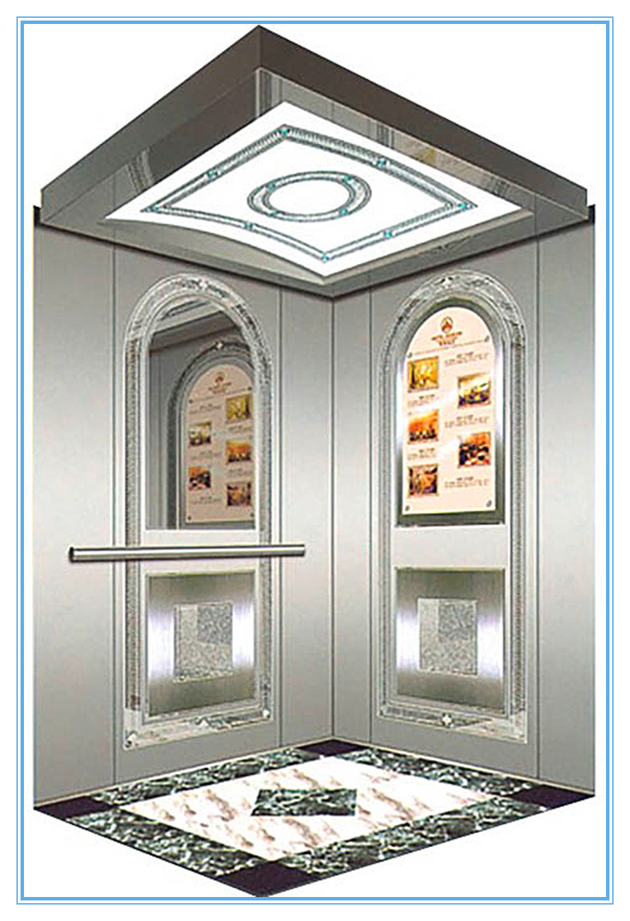 ISO9001 Passenger Sightseeing Home Villa Lift Without Machine Room