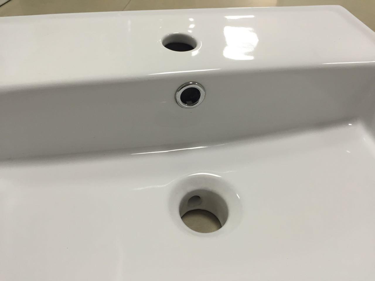 Square Bathroom Wash Ceramic Basin (7094A)