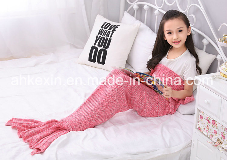 70% Orlon and 30% Cotton Fabric Handmade Mermaid Blanket