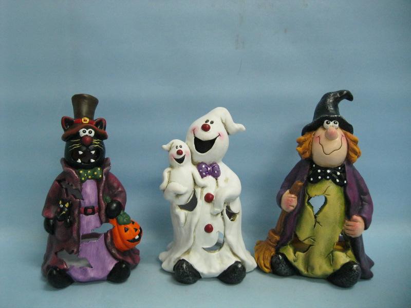 Halloween Pumpkin Ceramic Arts and Crafts (LOE2381-19z)