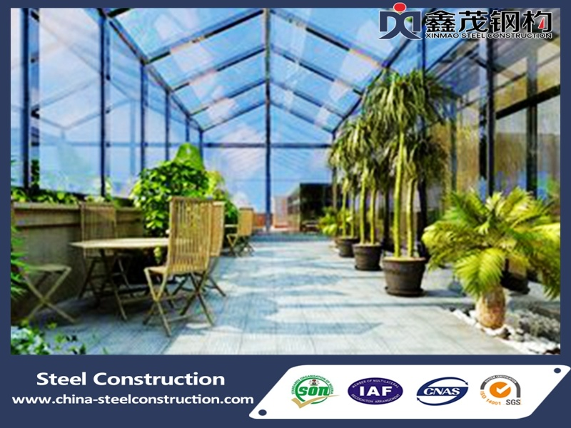Sunroom and Green House with Light Steel Structure for Sale