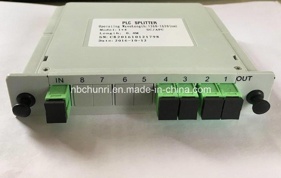 1*4 Sc/APC PLC Splitter (Insertion type)
