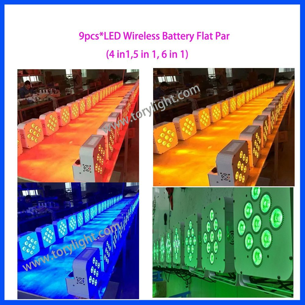 LED Stage Battery 9PCS*15W PAR Light