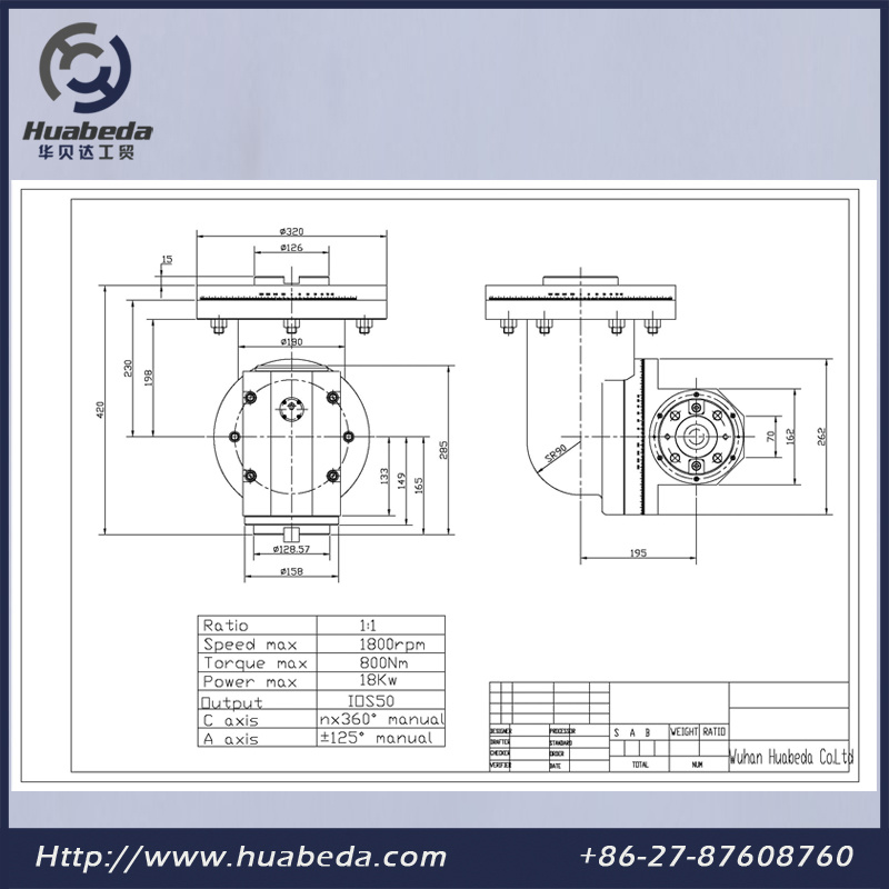 Universal Head for Milling Machine