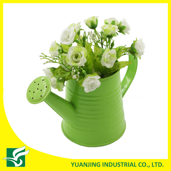 Small Watering Can Flower Planter for Home Garden Decoration