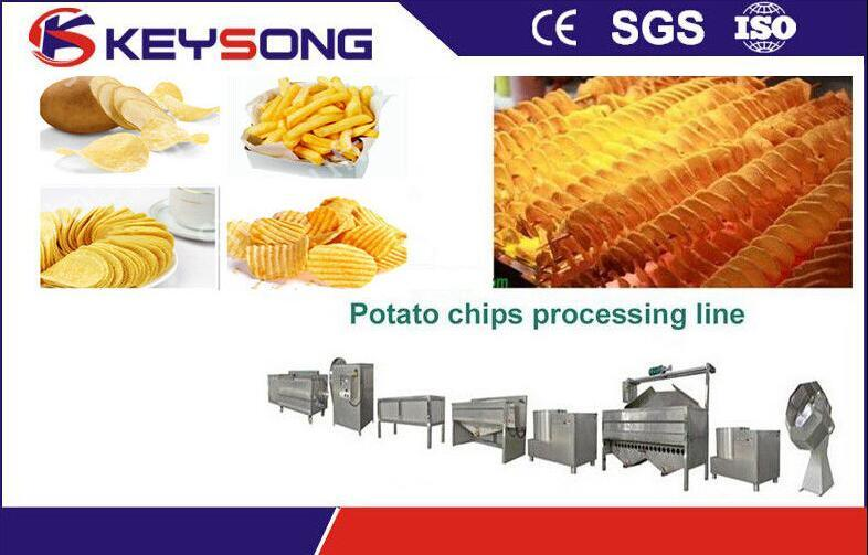 Fried Potato Chips Making Machine, Potato Chips Processing Line