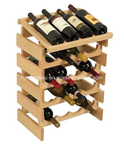 Practical 20 Bottle Wooden Wine Rack Wine Storage Rack for Home