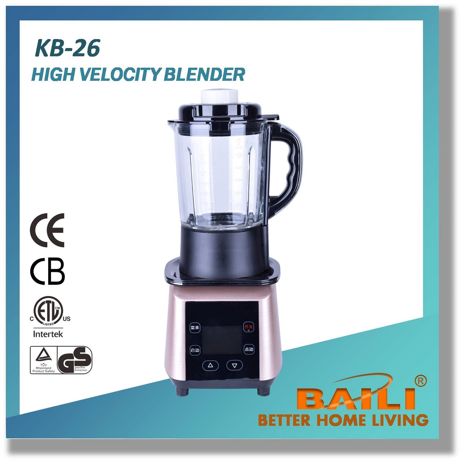 Professional High Velocity Blender with Free BPA Materials