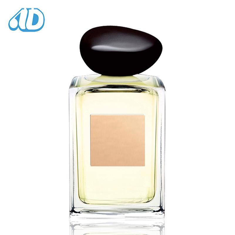 Ad-P281 Square Polished Glass Perfume Bottle