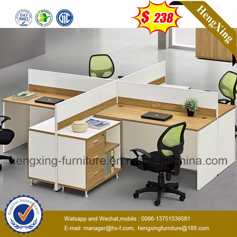 Bottom Price Office Desk 4 Seats Workstation Office Partitions (HX-6M201)