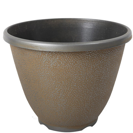 Outdoor Garden Decoration Stone Texture Plastic Flower Pot