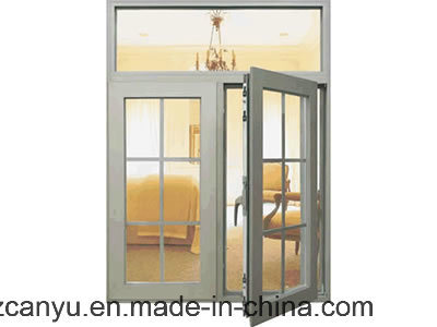 Aluminium Casement Window with Mosiquote Net, UPVC Window for Building