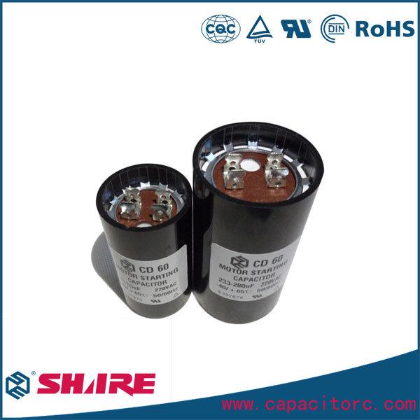 CD60 Start Capacitor Aluminum Electrolytic Capacitor