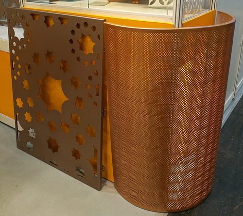 3D Eyes Pattern Perforated Aluminum Sheet for Column Cladding and Decoration
