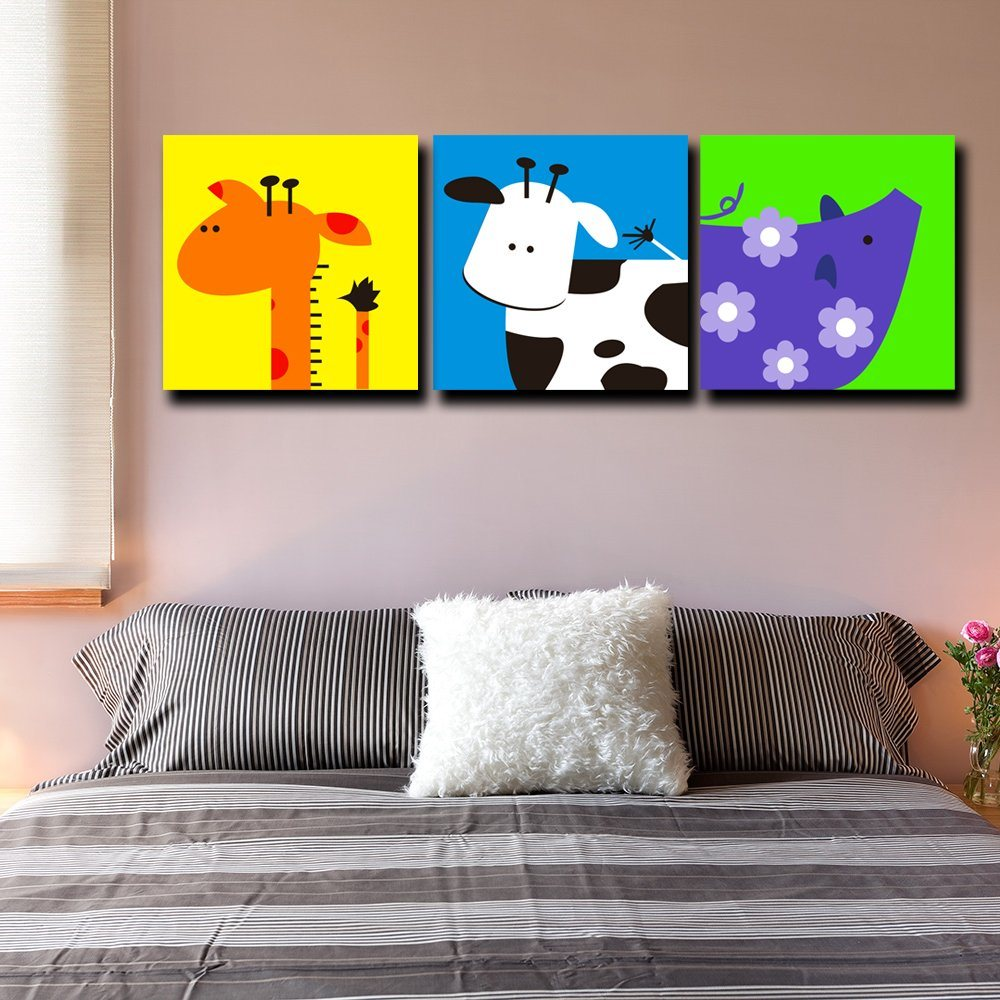 Multi Panel Paintings Wall Art Canvas Print Oil Painting for Kids Room