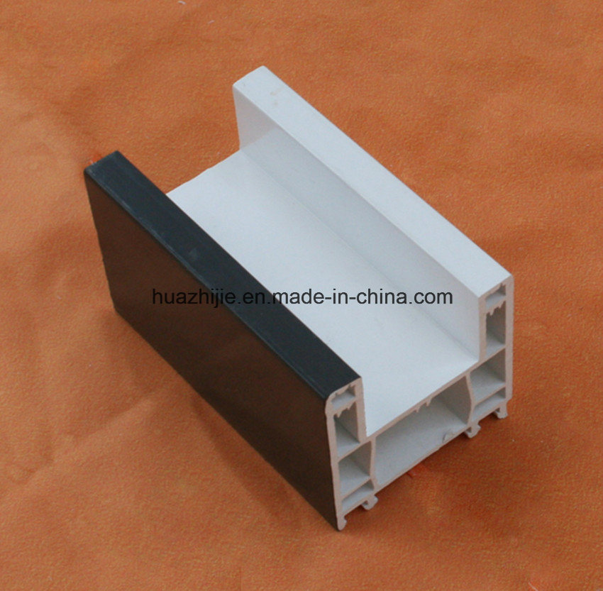 62mm Series Sliding Window Frame UPVC Profiles Without Mosquito Mesh